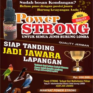 power strong vitamin burung lomba
